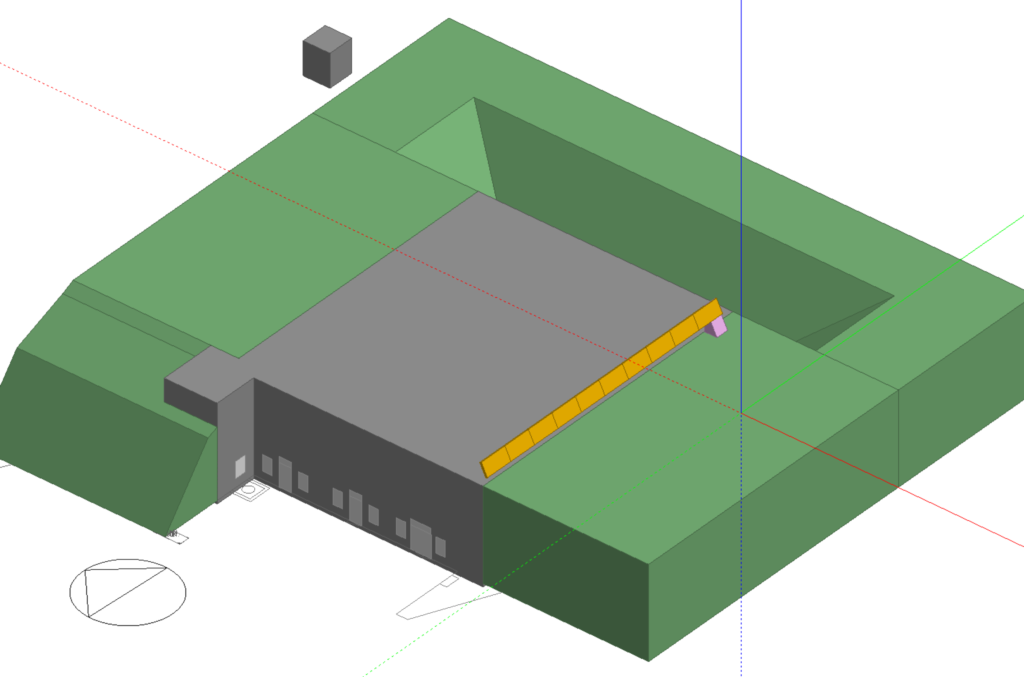Geometrisch model gebouw H bastion Oranje in Naarden-Vesting inclusief aangrenzend grondpakket